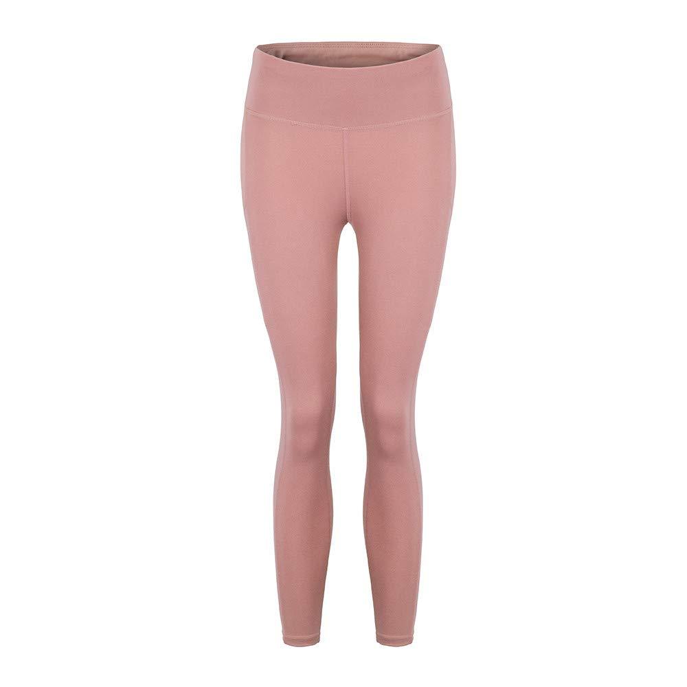 Womens Pants,Yoga Pants for Women Tummy Control Workout Pants Fitness Pants Yoga Leggings with Pockets Pink