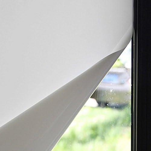 SUNDECK 目隠しシート 窓ガラスフィルム 飛散防止 断熱 紫外線カット プライバシー保護 見えない 超白 ホワイト 透過率16% (100cm×200cm, ホワイト)