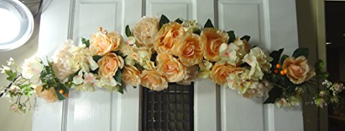 50'' Rose Peony Hydrangea Swag by V-Max Floral Decor