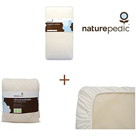 Naturepedic Organic Cotton Classic Crib Mattress Bundle
