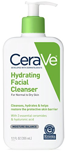 Daily Moisture Face (CeraVe Hydrating Facial Cleanser 12 oz for Daily Face Washing, Dry to Normal Skin)