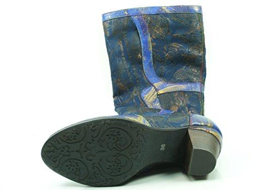 Boots 42 Laura Stiefeletten Agathe Blau 42 Vita Ankle Stiefel Damen Schuhe SL2131 rrfyvSA
