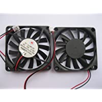 2 pcs Brushless DC Cooling Fan 12V 7010S 13 Blades 2 wire 70x70x10mm Sleeve-bearing Skywalking