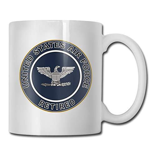 US Air Force Retired Colonel Gift Funny Coffee Mug Tea Cup White Sculpted Ceramic Mugs