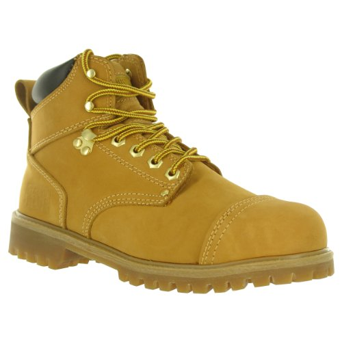 1400 Shoes (Rugged Blue RB2 1400 Leather Steel Toe Waterproof Men's Work Boot, Size 11M, Light Brown)