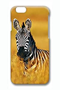Brian114 iPhone 6 Case - Cute Animals Zebra 20 Back Case Cover for iPhone 6 4.7 Inch Hard 3D Cases