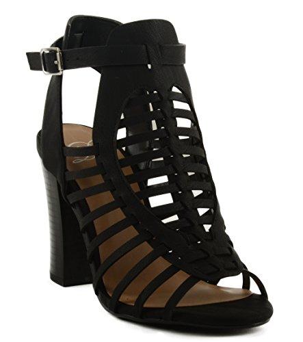 Delizioso Sandalo Con Tacco Donna Ibiza Block Nero