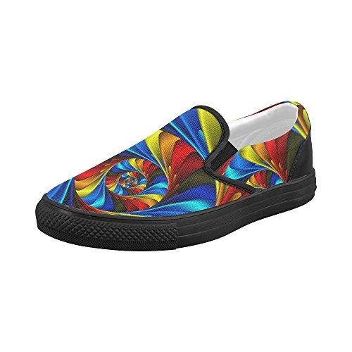 Scarpe Da Ginnastica Slip-on Personalizzate Artsadd Psychedelic Rainbow Spiral Per Donna Modello019