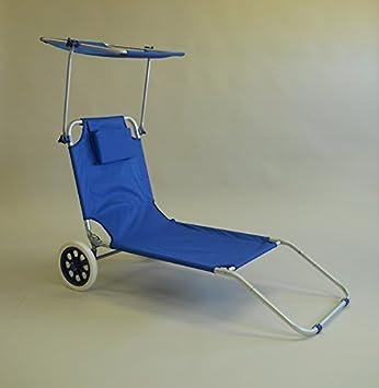 Transat Plage Chaise Longue A Roulettes 3302 Amazon Fr Cuisine Maison