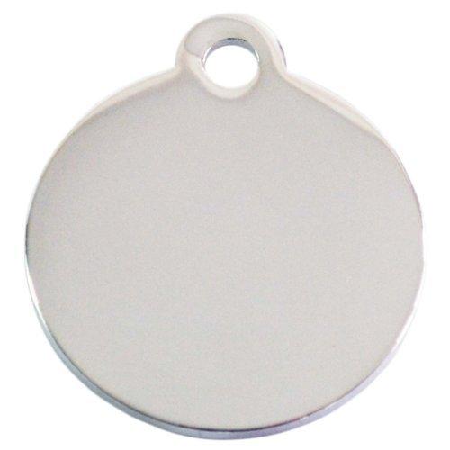 Adressanhänger mit Gravur - rund klein - Silber