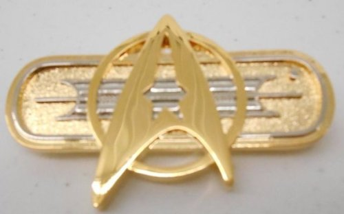 Star Trek Authentic Movie Deluxe Federation Uniform Chest Insignia PIN
