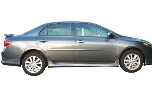 Toyota Corolla Body Side Moldings Painted in the Factory Paint Code of Your Choice 040 ()