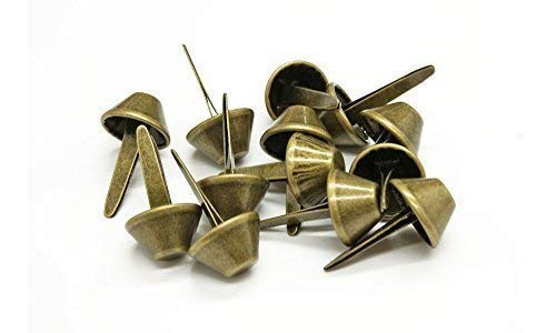 12mm x 22mm Mushroom Metal Split Rivets - 50 Pieces - Ideal for Leather Crafts - Bronze Trimming Shop