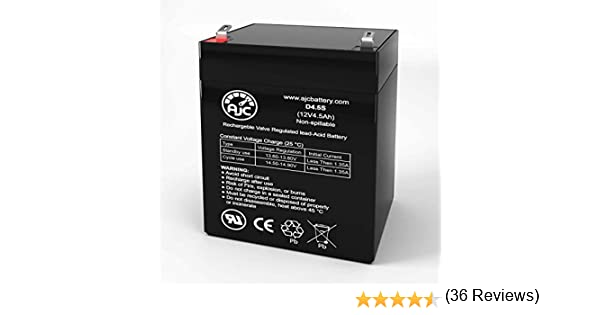 This is an AJC Brand Replacement Liftmaster 475LM Evercharge Battery Back-Up System 12V 4.5Ah UPS Battery Replacement
