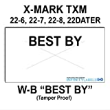 240,000 X-Mark 2212 compatible ''Best By'' White General Purpose Labels to fit the X-Mark TXM 22-6, 22-7. 22-8 & 22DATER Price Guns. Full case, includes 8 ink rollers.