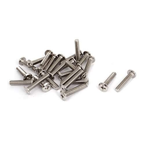 Furniture M6x30mm Phillips Socket Countersunk Screw Bolts 25 Pcs