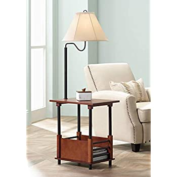 Travata Traditional Floor Lamp End Table Swing Arm Wood