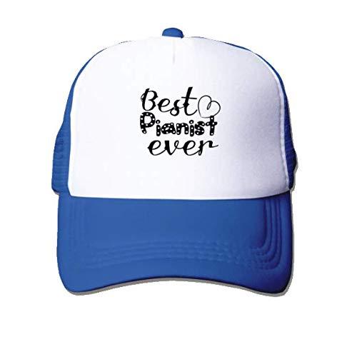 Unisex Breathable Quick Dry Mesh Baseball Cap Sun Hat Blue-Best Pianist ever