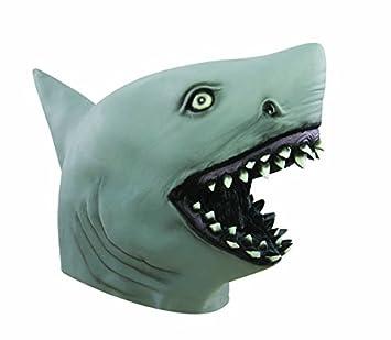 P tit payaso – 62946 – Disfraz de máscara adulto látex completo – Tiburón,