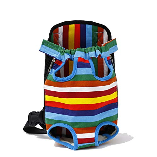 cola-site Pet Dog Carrier Backpack Mesh Outdoor Travel Products Breathable Shoulder Handle Bags,4,M ()