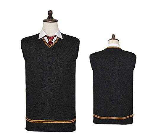 Ice Dream 4Styles Unisex Cosplay Costume Vest School Uniform Sweater Waistcoat (XXL, A) (Harry Potter School Uniform)