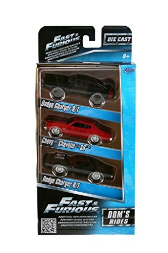 55 Chevy Body (Fast & Furious 1:55 Diecast Cars Dodge Charger ST Dodge Charger RT and Chevy Chevelle SS(3 Pack))