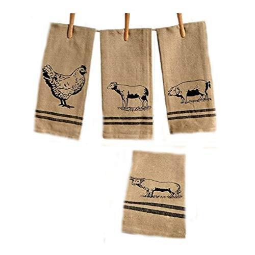 (The Lakeside Collection 4-Pc. Farmhouse Kitchen Towel)