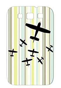 Airplanes Anti-drop Miscellaneous Art Design TPU Black Cover Case For Sumsang Galaxy S3