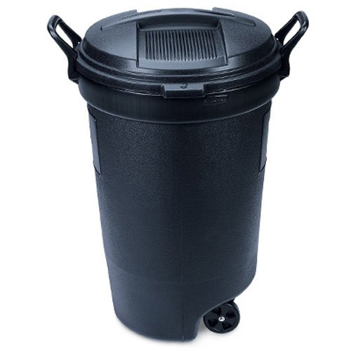 Amazoncom Rubbermaid Rm133901 Thirty Two Gallon Black Wheeled