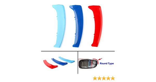 Areyourshop M Color - Adhesivo para rejilla de riñón, diseño de rayas, para BM-W Serie 1 E87 2004-2011