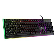 HAVIT RGB Backlit Wired Membrane Gaming Keyboard, Mechanical-Similar Typing/Gaming Experience