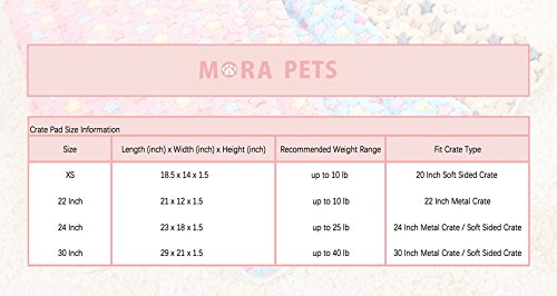 Mora Pets Ultra Soft Pet (Dog/Cat) Bed Mat Cute Prints | Reversible Fleece Dog Crate Kennel Pad | Machine Washable Pet Bed Liner (24-inch, Pink) by Mora Pets (Image #6)