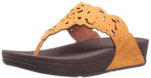 FitFlop Women's Flora Flip Flop, Sunflower, 8.5 M US