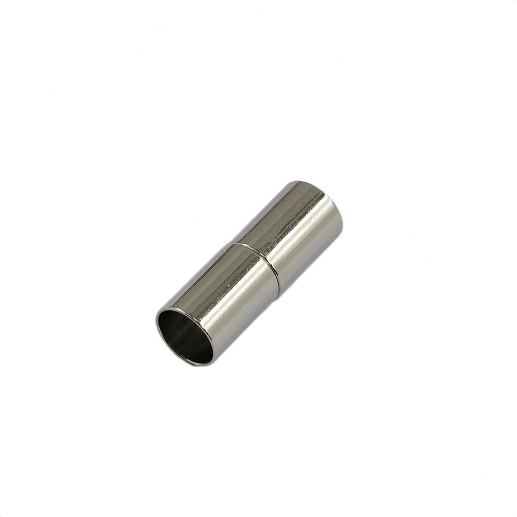 Bonarty 24 St/ücke 4mm Magnet Verschluss Lederband Endkappe F/ür Schmuck Herstellung