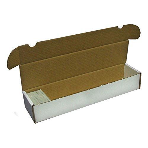 (BCW 930 Count- Corrugated Cardboard Storage Box - Baseball, Football, Basketball, Hockey, Nascar, Sportscards, Gaming & Trading Cards Collecting Supplies - 1 Box)