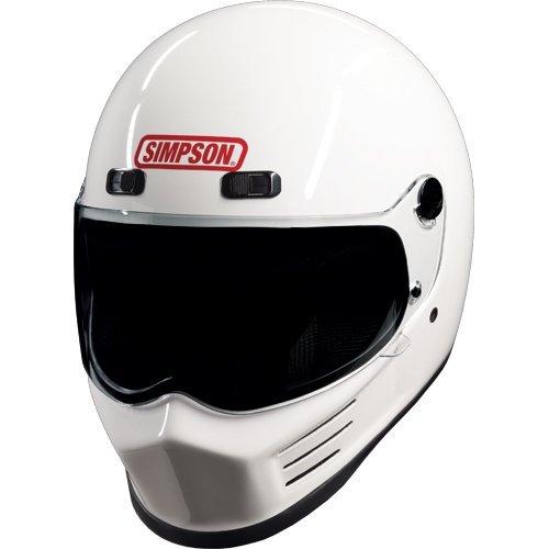 Simpson MSB15L1 Street Bandit - Casco de Moto, Color Blanco