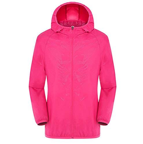 Men's Women Long-Sleeved Hooded Jersey Casual Jackets Windproof Ultra-Light Rainproof Windbreaker Sun Protection Top