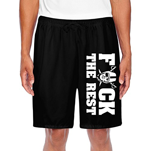 CGH Seven Fuck Rest Oakland Football Logo Men's Cargo Shorts With Pocket SizeL Black