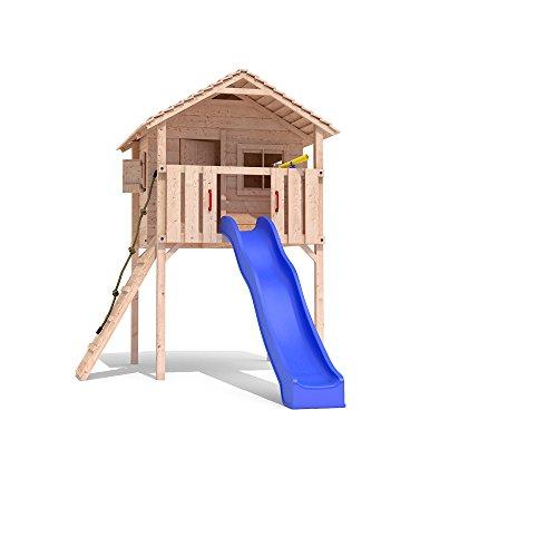 FRIDOLINO Spielturm Baumhaus Stelzenhaus Schaukel Kletterturm Rutsche Holz (ohne Schaukelanbau)