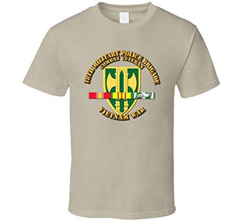 XLARGE - Army - 18th MP Bde - Vietnam War w SVC Ribbons T shirt - Tan ()