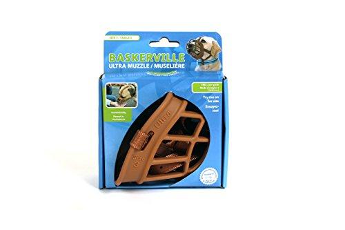 Baskerville Ultra Muzzle   Seguro y furete perro amigable bozal, para perros pequeños, talla 3, marrón