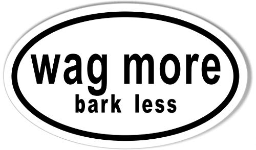 (Wag More, bark Less Oval Bumper)