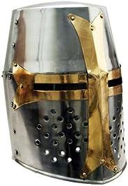 Medieval Knight Brass Crusader Helmet
