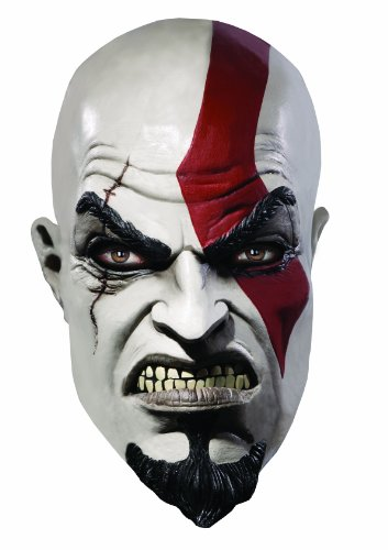 God of War Adult Deluxe Overhead Latex Kratos Mask, Multicolored, One Size (2)