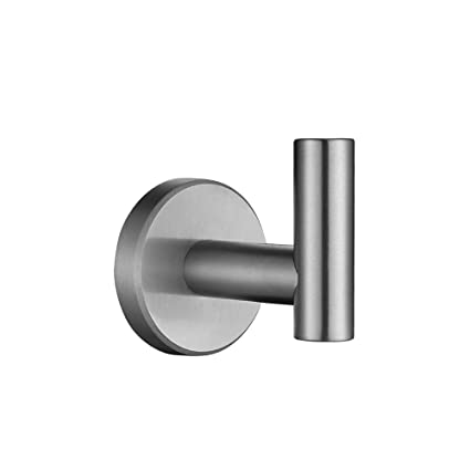 . JQK Bath Towel Hook  SUS 304 Stainless Steel Coat Robe Clothes Hook for  Bathroom Kitchen Garage Wall Mounted  Brushed Finish
