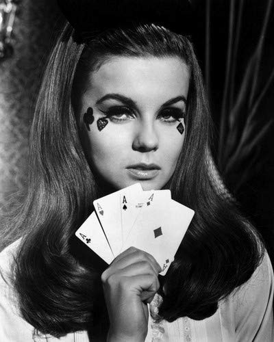 Ann-Margret stunning image holding 4 Aces Playing cards 8x10 Promotional Photograph