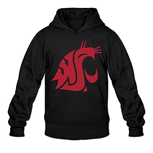 Cougar Console (Rebecca Geek Washington State University Cougar Men's Long Sleeve Hooded Sweatshirt XL Black)