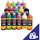 Colorations Simply Washable Tempera Paints, 16 oz. - Set of 17 (Item # SWTALL)