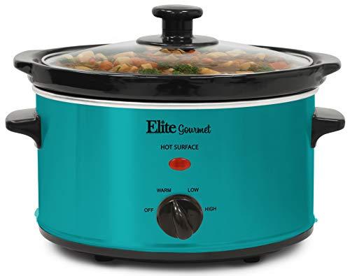 Elite Gourmet MST-275XT Electric Slow Cooker, Adjustable Temp, Entrees, Sauces, Stews and Dips, Dishwasher-Safe Glass…
