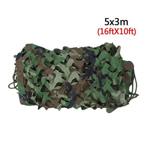(Chengshang Long Home Camouflage Netting Woodland Camo Army Green Net Military Camping Hunting Shelter)